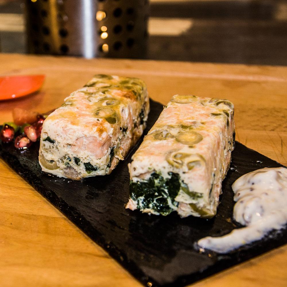 Recetas Navideñas. Pastel de salmón y espinacas