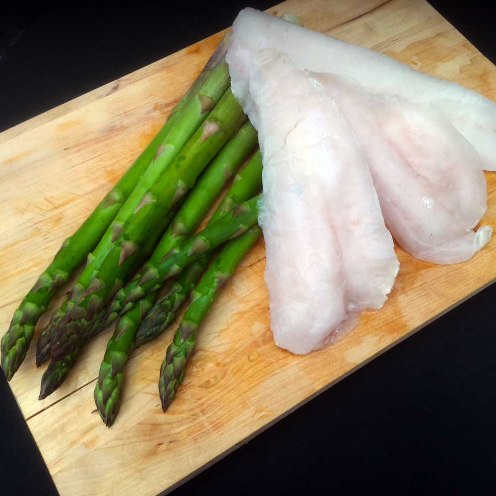 Merluza rellena de trigueros. Ingredientes