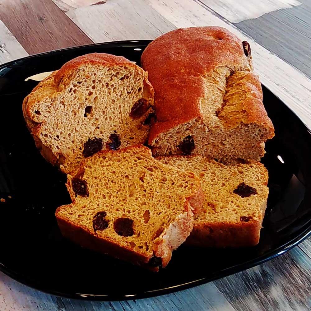 Pan de lino con pasas