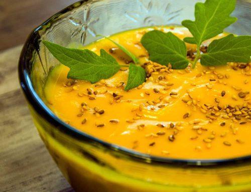 Crema de zanahoria, calabacín y puerro. En otoño, tiempo de crema de verduras
