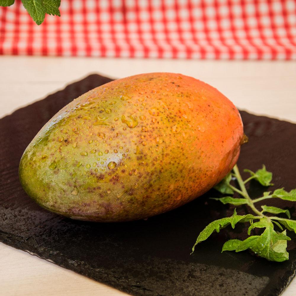 Ingredientes. Fiambre de pollo y mango