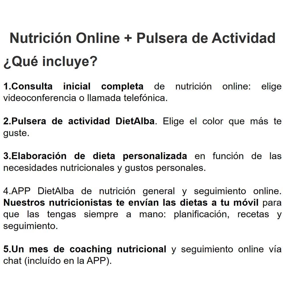 DietAlba Integral: Nutrición online + Pulsera de Actividad