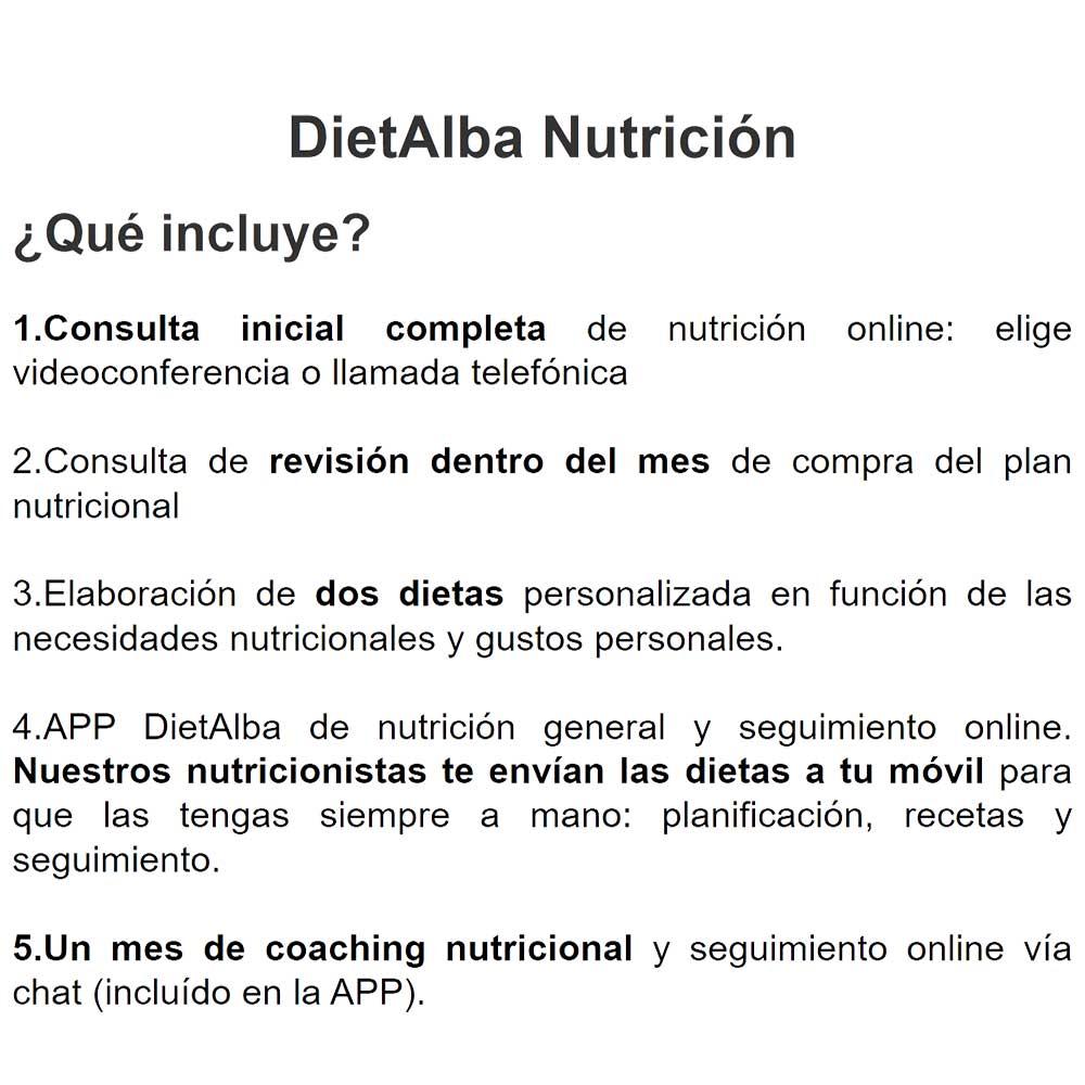 Consulta nutrición online