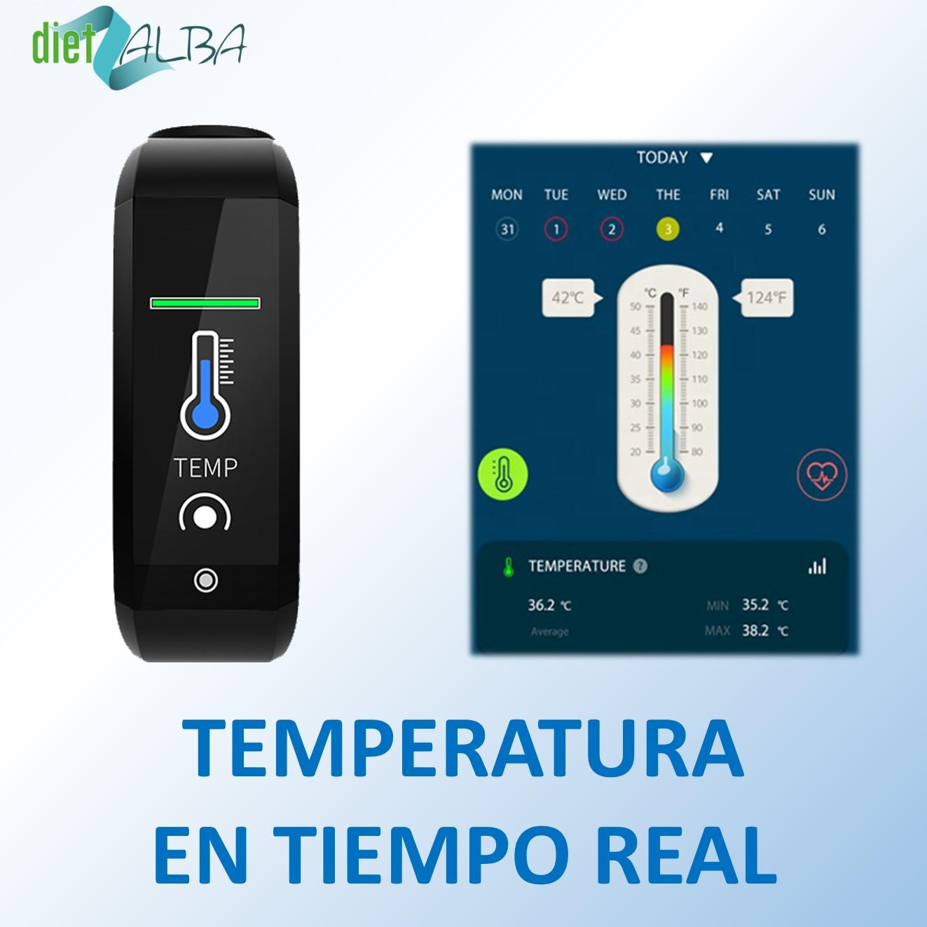 Pulsera con sensor de temperatura
